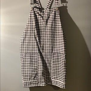 Topshop Gingham Jumper Dress